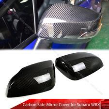 Fit For Subaru WRX STI 4th Sedan 15-20 Carbon Fiber Side Mirror Upper Cover Trim