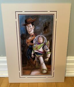 "Disney Art Print Toy Story ""Buzz & Woody"" Darren Wilson RARE Retired NEW COA"