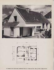 ANNEES 50  --  MAISON ARCHITECTE BUREAU ET GUILLAUME A SULLY SUR LOIRE   3G518
