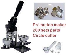 "37mm 1.5"" Interchangeable Button Maker Machine Badge Material KIT"