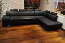 Echtleder Ecksofa 300 x 200 Echt Leder Sofa Eck Couch Bettfunktion Volleder