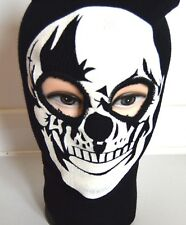 NEW Adult White Skull black Balaclava hat halloween fancy dress