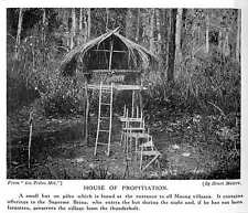 1913 House Of Propitiation At Entrance To All Mnong Villages Thunderbolt Preserv