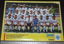 CLIPPING POSTER FOOTBALL 1987-1988 CHAMOIS NIORTAIS NIORT VENISE-VERTE
