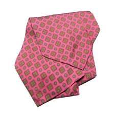 ascot UOMO FUXIA MAN cash col SETA stampa printed silk FANTASIA 60 CLASSIC ITALY