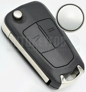 REMOTE KEY FOB CASE - SHELL FOR OPEL/VAUXHALL ASTRA H - ZAFIRA +BATTERY OP06