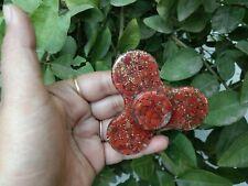 Energetisiert Rot Jaspis Orgon Zappeln Spinner Rund Kristall Therapie Booklet