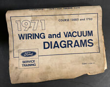 1971 Ford Service Wiring & Vacuum Diagrams