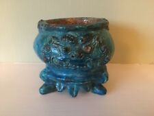 Chinese 17th Century Ming Dynasty Pottery Censer Incense Burner Turquoise Glaze