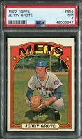 1972 Topps #655 Jerry Grote PSA 7 NM, Super Tough!