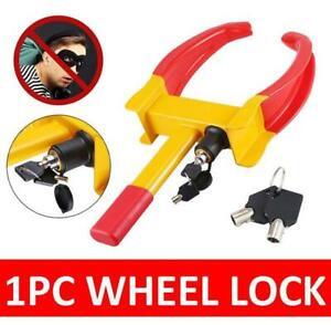 WHEEL CLAMP HEAVY DUTY ANTI THEFT LOCK CARAVAN TRAILER SECURITY CAR VAN + KEYS