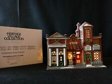 "Dept 56 Christmas in the City ""Riverside Row Shops"" retired 1999"