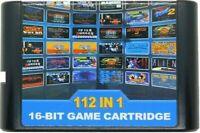 112 in 1 Supe Classic Video Games - 16 bit MD Cartridge sega MegaDrive Genesis