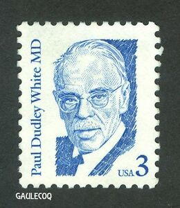 USA POSTAGE - PAUL DUDLEY WHITE, M.D. 3 CENTS STAMP - 1986
