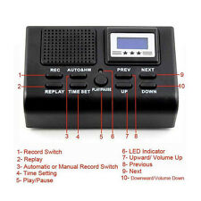 Nuevo Mini digital llamada Telefónica ranura para tarjeta SD Grabadora de voz de teléfono de pantalla LCD