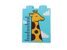 LEGO DUPLO Pierre à motif girafe ruban nuages Bildstein ANIMAL DE ZOO AFRIQUE
