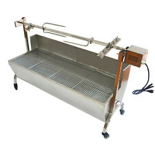 "53"" Large Stainless Steel BBQ,Pig,Lamb,Goat,Chicken Spit Roaster,Rotisserie Spit"