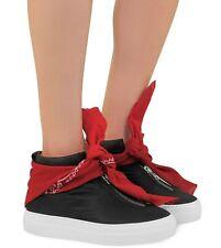 $550 Joshua Sanders Black Bandana Womens Italy High Top Sneaker Red Size 38 US 8