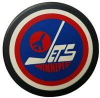 WINNIPEG JETS NHL RARE GENERAL TIRE SLUG JOHN A. ZIEGLER GAME PUCK TRENCH MFG.