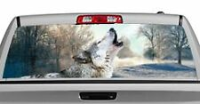 Truck Rear Window Decal Graphic [Wolves / Winter's Wolf] 20x65in DC52509