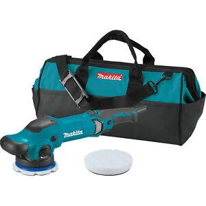 """Makita 5"""" Dual Action Random Orbit Polisher Kit w/ pads and Tool Bag #PO5000CX1"""