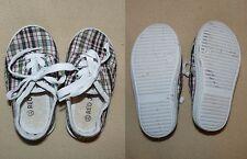 Espadrilles Red Jin Chaussures à lacets en toile carreaux pour bébé taille 23