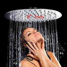 """8"""" Round Stainless Steel Bath Rainfall Rain Shower Head Sprayer Chrome Bathroom"""
