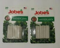 30ct JOBES Fertilizer Spikes (lot of 2) for House Plants Feed at the Roots