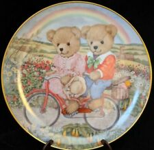 Franklin Mint Tandem Teddies Collectible Plate Patricia Brooks Teddy Bears Le