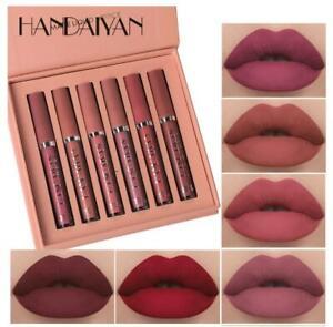 6PCS/Set Long Lasting Lip Gloss Glazed Matte Beauty Liquid Lipstick Lip Make-up