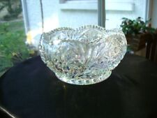 "EAPG McKee Toltec Clear Pattern Iridescent 8"" Centerpiece Bowl"