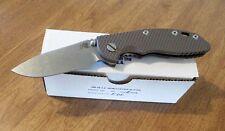 HINDERER XM18 3.5 Dark Earth G10 Handle Plain S35VN Slicer Blade Knife/Knives