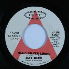 Rock 45 Jeff Beck Hi-Ho Silver Lining Epic promo Hear