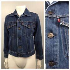 1960s Levi's Jean Jacket / 60s 2 Pocket Trucker Jacket Mod Suedehead / Xs