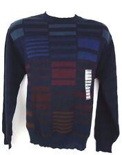 NEW Cezani Wool Blend Men's Crewneck Sweater Blue Size M NEW