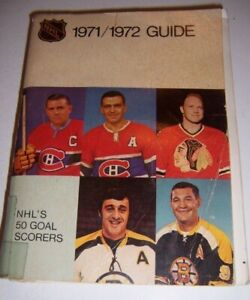1971 72 NHL Media PRESS Guide 500 Pages ESPOSITO Bobby HULL Maurice RICHARD 1972