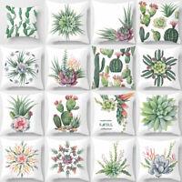 ALS_ Cactus Tropical Plant Pillow Case Sofa Waist Throw Cushion Cover Decor Hot