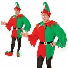 Hommes Costume Elfe Père Noël Helper Noël Hommes Femmes Noël Costume Déguisement