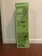 Greenworks 40Volt Cordless String Trimmer NIB Includes Battery And Charger.