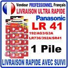 Pile LR41 AG3 G3A LR736 392A SR41 1.5V PANASONIC Alcaline QUALITÉ PREMIUM