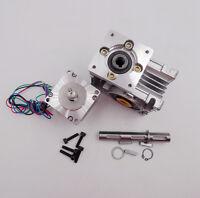 NMRV030 Ratio 30:1 NEMA23 Worm Gear Stepper Motor Speed Reducer 4.2A L112mm CNC