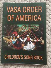 Swedish VASA ORDER OF AMERICA 1970 Children's Song Book & music tradition SWEDEN