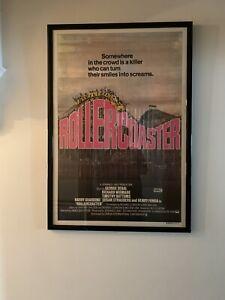 Rollercoaster (1977) - Original One-Sheet Australian Movie Poster - Framed