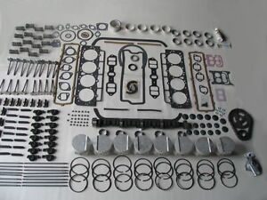 Deluxe Engine Rebuild Kit 1958 58 Edsel 410 V8 E-475 NEW pistons valves camshaft