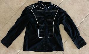 Tripp NYC Shirt Black Goth Punk Size Large