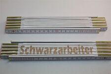 Zollstock mit  SCHWARZARBEITER   Lasergravur 2 Meter Handwerkerqualität