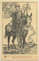 Fighting For God King & Country 1916 Anti German Propaganda WW1 Postcard (2294)