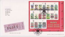 GB ROYAL MAIL FDC FIRST DAY COVER 2001 DOUBLE DECKER BUSES MINIATURE COVENT PMK