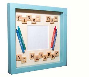 New First Day at Nursery Photo Frame Keepsake.