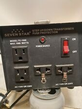 SevenStar 1500 Watt 110V-220 Volt Up/Down Transformer Heavy-Duty Converter